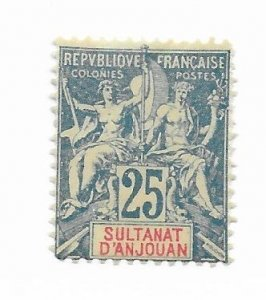 Anjouan #11 MH - Stamp - CAT VALUE $24.00