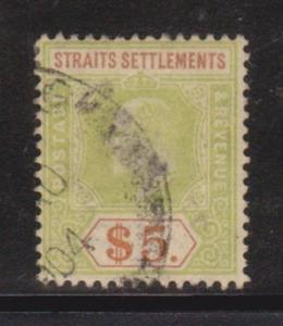 Straits Settlements 104 F-VF-used light cancel nice color cv $ 190 ! see pic !
