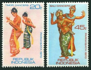 Indonesia 787-788,MNH.Michel 672-673. Tourism,1970.Dancers.