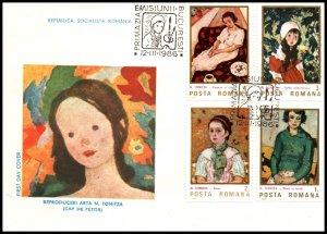 Romania 3353-3356 Paintings U/A FDC
