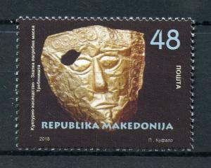 Macedonia 2018 MNH Cultural Heritage Mask 1v Set Masks Artefacts Stamps