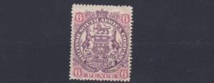 RHODESIA  1897  SG  71  6D  DULL PURPLE & PINK      MH