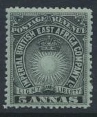 British East Africa Company  SG 29  Mint Hinged - perf 14 -  see details