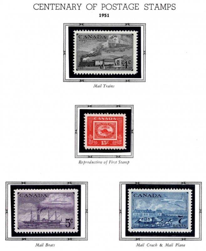 CANADA Scott 311-314 MNH** British North America postal admin centennial set
