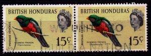 Belize (British Honduras) - #173 - 1962 - VFU -Pair - CV$1.00
