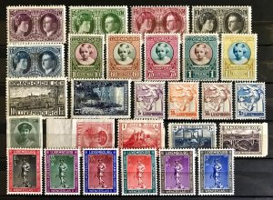 Luxembourg: Lot Older Mint Sets and Stamps