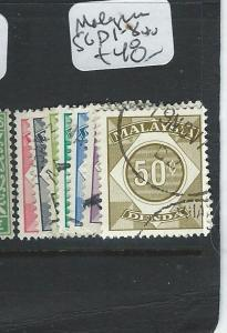 MALAYSIA  (PP0710B) POSTAGE DUE    SG D 1-8   VFU