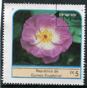 Equatorial Guinea 1976 ROSES ESCAPADE 1 value Perforated Fine Used