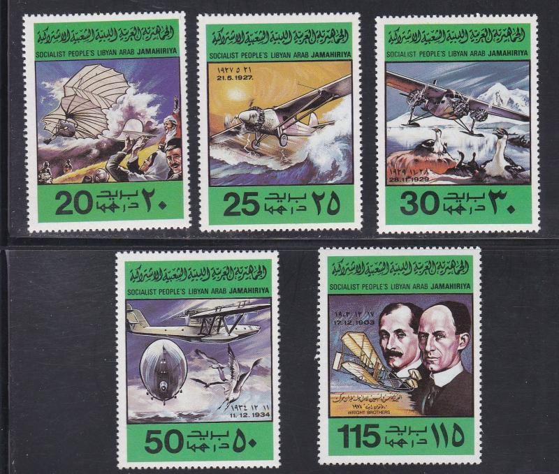 Libya MNH 769-73 75th Anniversary Of Powered Flight