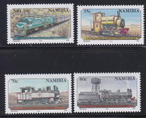 Namibia # 774-777, Locomotives, NH, 1/2 Cat