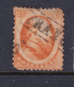 Netherlands a 15c orange from 1864 used