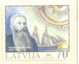 Latvia Sc 554 2002 Kristians Johans Dals stamp mint NH