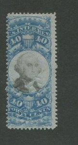 1871 US Documentary Revenue Stamp #R114 Used Hinged Fine