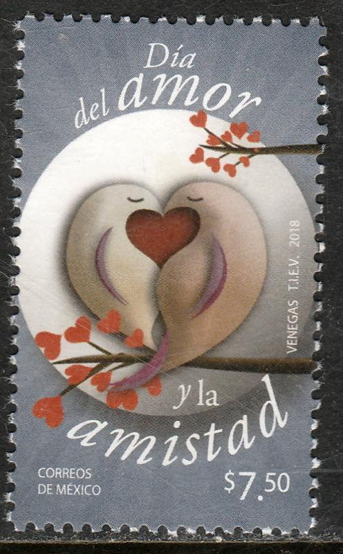 MEXICO 3091, ST. VALENTINE'S DAY.. MINT, NH. F-VF.