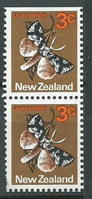New Zealand SG 1010  FU Booklet pair top imperf unwaterma...