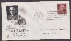 1062 George Eastman ArtCraft FDC with neatly typewritten address