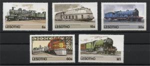 LESOTHO, LOCOMOTIVES / TRAINS 1984, MNH SET