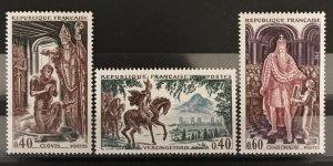 France 1966 #1165-7, MNH, CV $.90