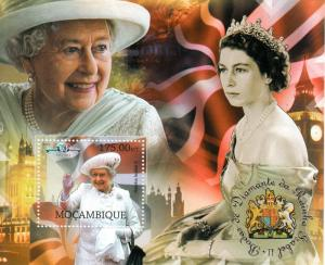Mozambique Royalty Stamps 2012 MNH Queen Elizabeth II Diamond Jubilee 1v S/S