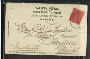 LAGOS (P3005B)  1906  KE 1D ON PPC SENT TO ENGLAND