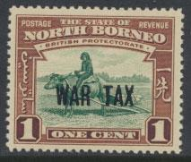 North Borneo SG 319   SC #MR1   MVLH  Opt WAR TAX see details and scans