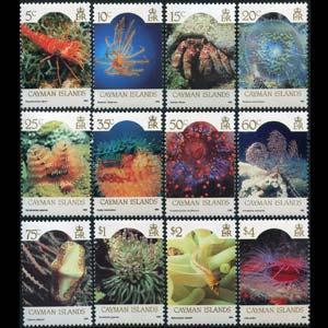 CAYMAN IS. 1986 - Scott# 562-73 Marine Life Set of 12 NH
