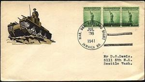 JAMAICA 1941 cover US Marine Det Portland Bight duplex.....................19110