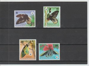 Papua New Guinea  Scott#  697-700  MH  (1988 Queen Anne's Butterfly)