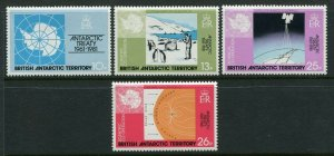 British Antarctic Territory Scott 82-85 1981 Antarctic Treaty Mint NH
