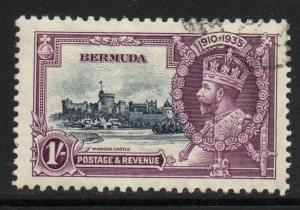 BERMUDA SG97 1935 SILVER JUBILEE 1/= FINE USED