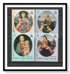 British Virgin Islands #458-461 Christmas Set MNH