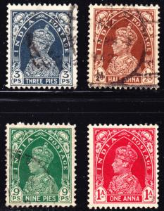 India Scott 150-153  F to VF used.