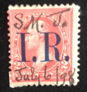 US Scott R155A Revenue 2c Pink Used Type IV F-VF