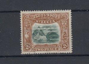 St Lucia 1902 2d Columbus SG63 MH JK5262