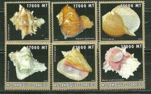 Mozambique MNH 1670A-F Sea Shells 2002 SCV 9.50