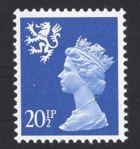 Great Britain Scotland  #SMH40 MNH  Q E II  20 1/2p   Machin