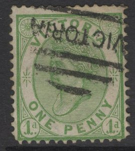 VICTORIA SG182a 1877 1d GREEN USED