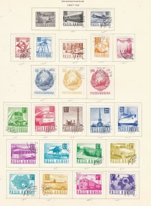 ROMANIA  ^^^^^^^1967-69  used  collection on page  $$@ ha629roma