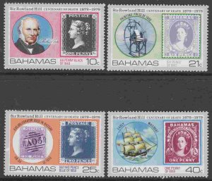Bahamas #450-53 F-VF Mint NH ** Sir Rowland Hill, Stamp on stamp