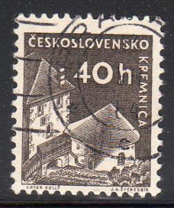 Czechoslovakia 974 - Used - Kremnica Castle (2)