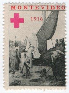 (I.B-CKK) Uruguay (Great War) Cinderella : Montevideo Red Cross (Delandre)