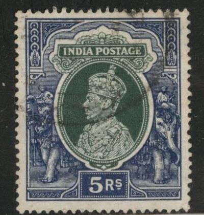 India Scott 164 used stamp from 1937-1940 set