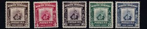 NORTH BORNEO  1939  S G D85 - D89   SET OF 5  POSTAGE DUES     MH   CAT £180