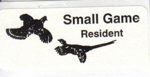 Rosebud Res., Resident, Small Game, #RB102, MNH (40084)