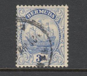 Bermuda Sc 88 used. 1924 3p ultra Caravel, sound, fresh.
