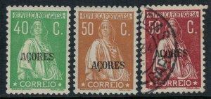 Azores #313G,I-J*/used  CV $9.75