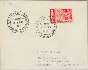 54400 - FRANCE - POSTAL HISTORY: COVER with nice postmark  FOOTBALL STADIUM 1966