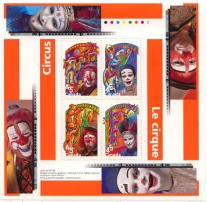Canada - 1998 The Circus Souvenir Sheet VF-NH #1760b