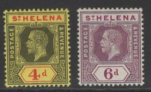 ST.HELENA SG83/4 1912 POSTAGE & REVENUE PAIR MTD MINT
