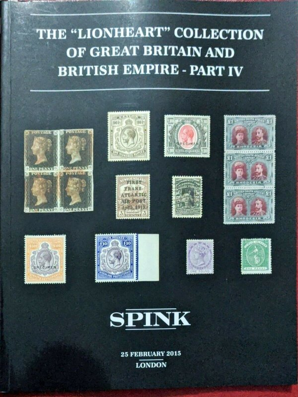 Auction Catalogue The  Lionheart Collection of GREAT BRITAIN + BRITISH EMPIRE